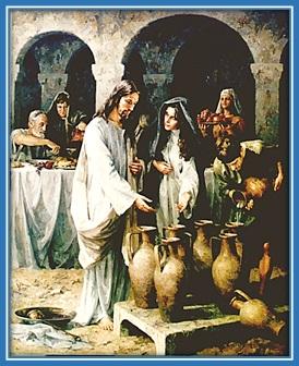 Jesús y María en las bodas de Caná