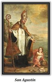 San Agustín y el Niño Jesús