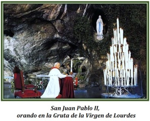 San Juan Pablo II en Lourdes