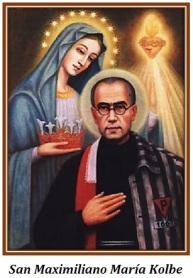 San Maximliano María Kolbe y la Virgen María
