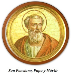 San Ponciano - Papa y Mártir