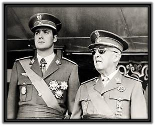 Francisco Franco y Juan Carlos I