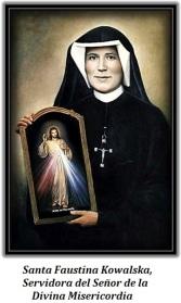 Santa Faustina Kowalska - Con el cuadro