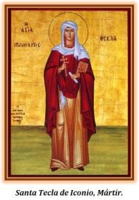 Santa Tecla de Iconio -Mártir