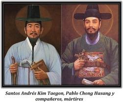 Santos Andrés Kim Taegon y Pablo Chong Hasang