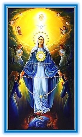Virgen del Rosario con los ángeles