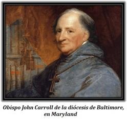 Obispo John Carroll diócesis de Baltimore
