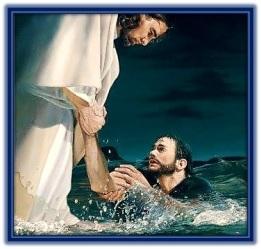 Jesús salva a Pedro en el mar