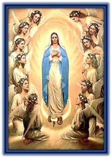 La Inmaculada Concepción - rodeada de ángeles