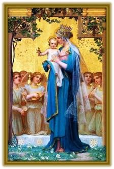 María - Niño Jesús y los Ángeles