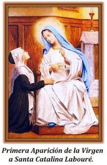 Primera Aparición de la Virgen a Santa Catalina Labouré.
