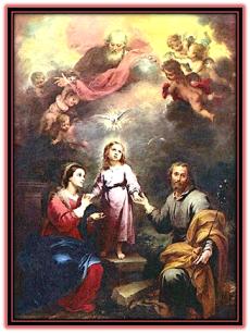 Sagrada Familia. Padre y Espíritu Santo