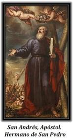 San Andrés, Apóstol. Hermano de San Pedro