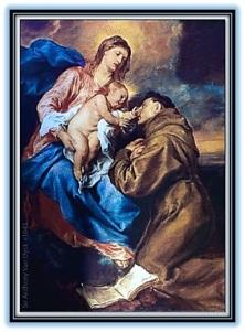 San Antonio de Padua, Virgen María y Niño Jesús