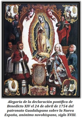 Virgen de Guadalupe- Declaración pontífica Benedicto XIV