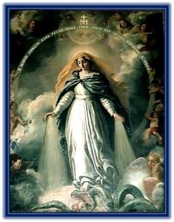 Virgen María aplasta la cabeza del maligno