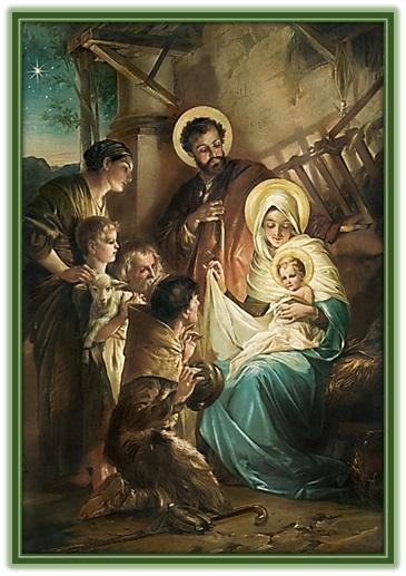 Adoración al Niño Jesús en el pesebre