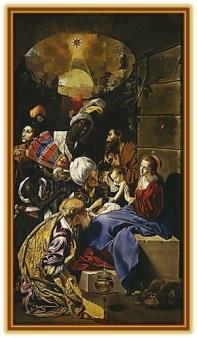 Adoración de los reyes al Niño Jesús
