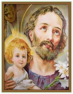 San José - Niño Jesús felices