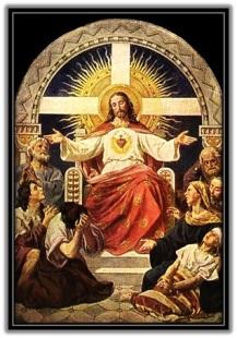 Jesucristo sentado en el trono