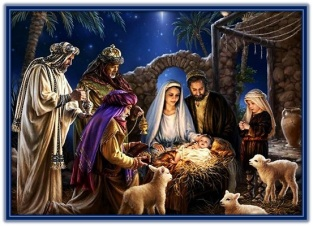 Nacimiento del Niño Jesús y adoración