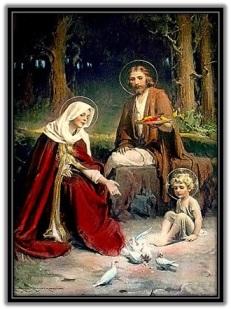 Sagrada Familia y dando de comer a palomas