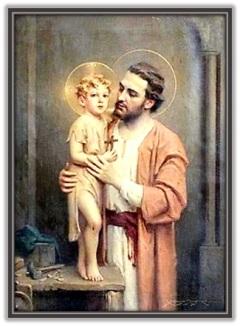 San José - Niño Jesús con Cruz en la mano