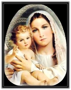 Virgen María Madre y Niño Jesús