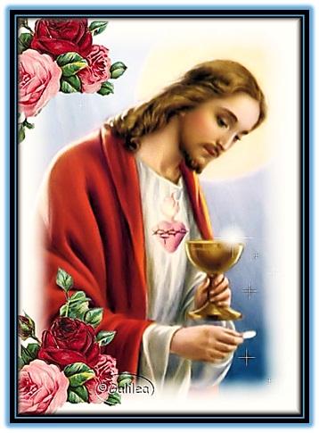 jesucristo dando la comunión