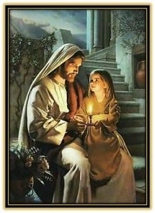 jesucristo y la virgen prudente