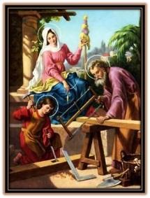 sagrada familia en nazaret trabajando