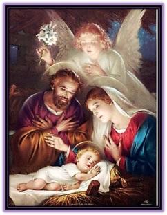 san josé, maría y niño jesús dormido