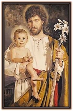 san josé y niño jesús sonriendo