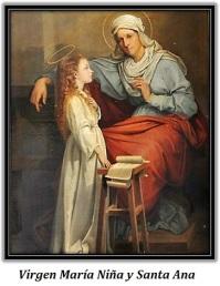 virgen maría niña y santa ana