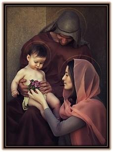 jesús, José y María