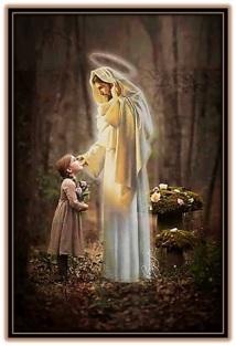 Jesucristo y niña