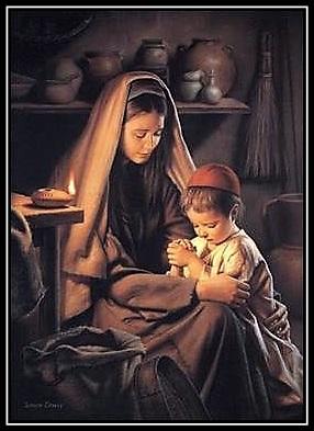María y Jesús rezando