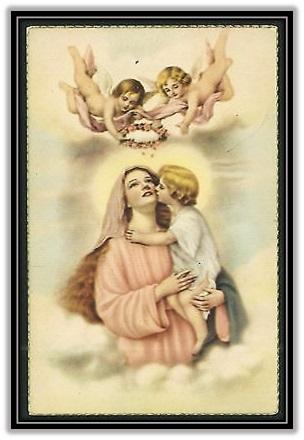 Niño Jesús besando a la Virgen María