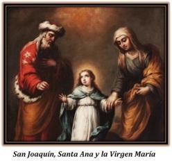 San Joaquín, Santa Ana y la Virgen María niña