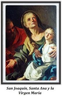 San Joaquín, Santa Ana y la Virgen María