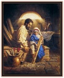 San José y Jesús trabajando