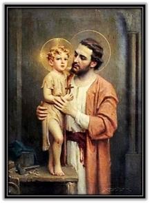 San José y Niño Jesús con la cruz