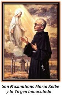 San Maximiliano Kolbe y la Virgen Inmaculada