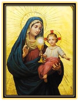 Virgen María y Niño Jesús - Cáliz