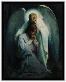 Ángel consolando a Jesús