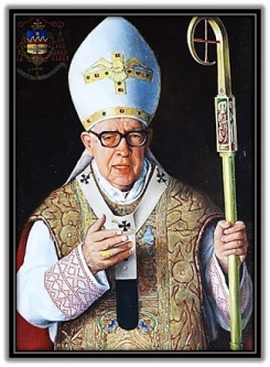 Cardenal Marcelo González Martín con el báculo