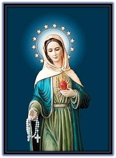 Corazón de María y rosario