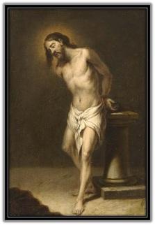 Jesús atado en la columna