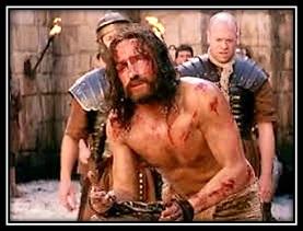 Jesús en cadenado en la columna