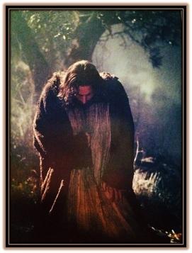 Jesús en el huerto de los olivos